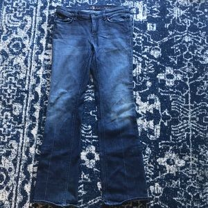 7 for All Mankind high waist bootcut jeans